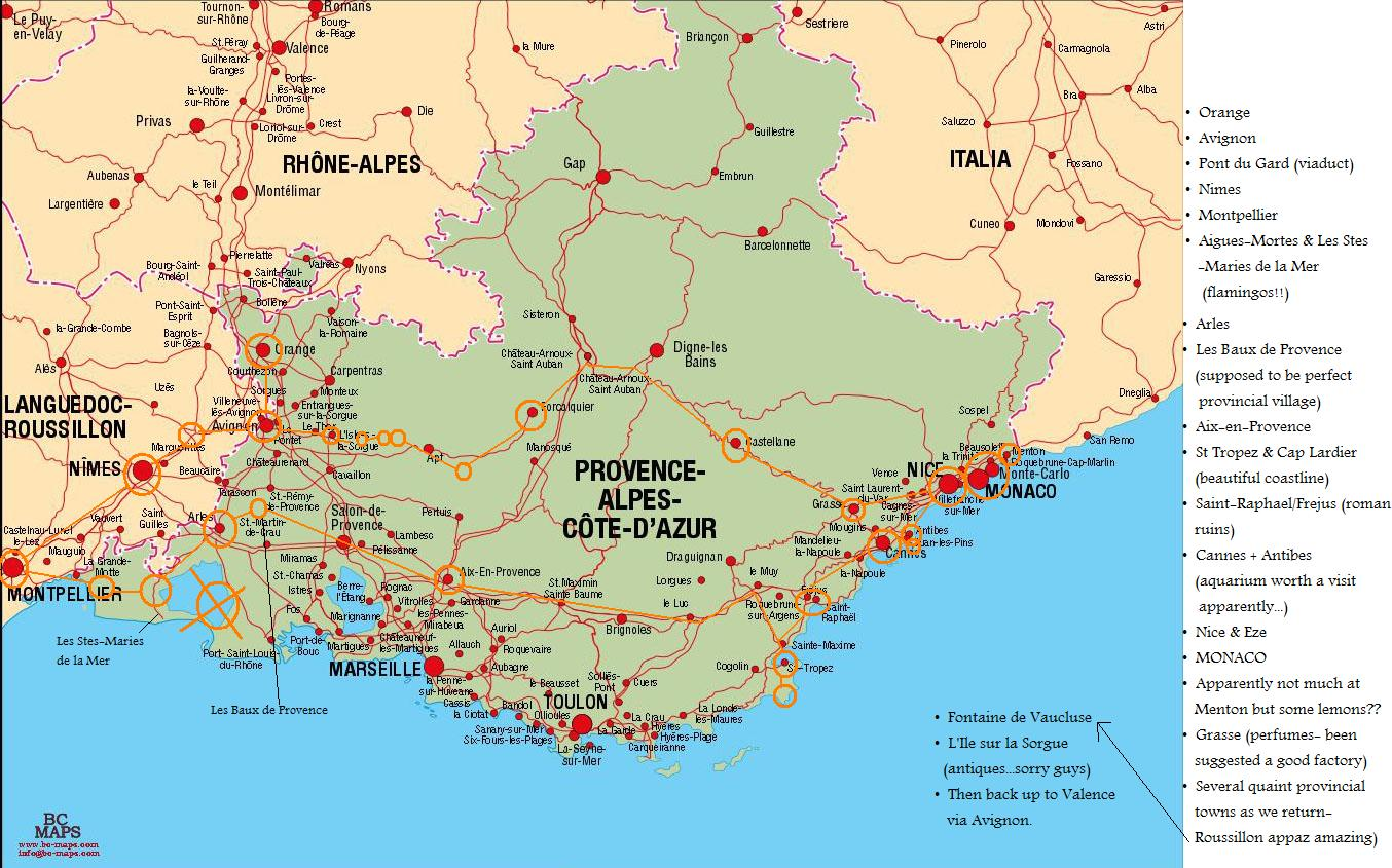 map of cote d azur my blog. Black Bedroom Furniture Sets. Home Design Ideas